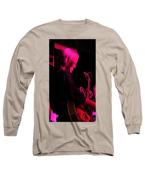 Long Sleeve T-Shirt featuring the photograph Jazz Guitarist by Lori Seaman
