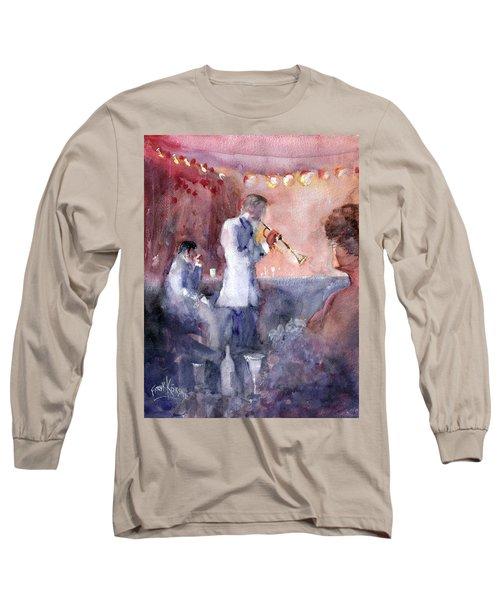 Jazz Nights Long Sleeve T-Shirt by Faruk Koksal