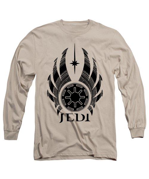 Jedi Symbol - Star Wars Art, Teal Long Sleeve T-Shirt