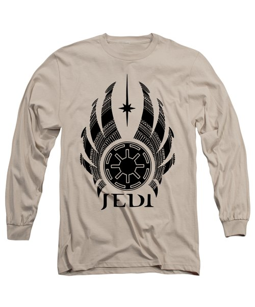 Jedi Symbol - Star Wars Art, Teal Long Sleeve T-Shirt