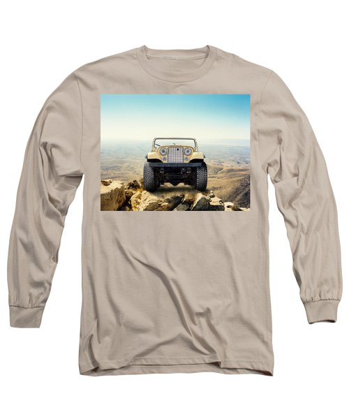 Jeep On Mountain Long Sleeve T-Shirt