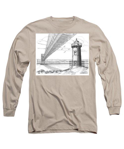 Jeffrey's Hook Lighthouse Long Sleeve T-Shirt