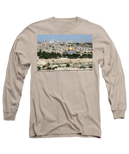 Jerusalem Skyline Long Sleeve T-Shirt