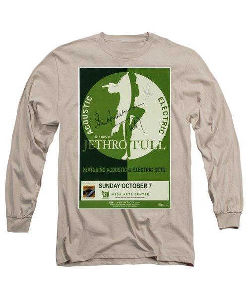 Jethro Tull Signed Poster Long Sleeve T-Shirt