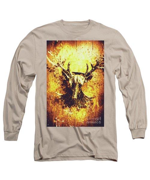 Jewel Deer Head Art Long Sleeve T-Shirt