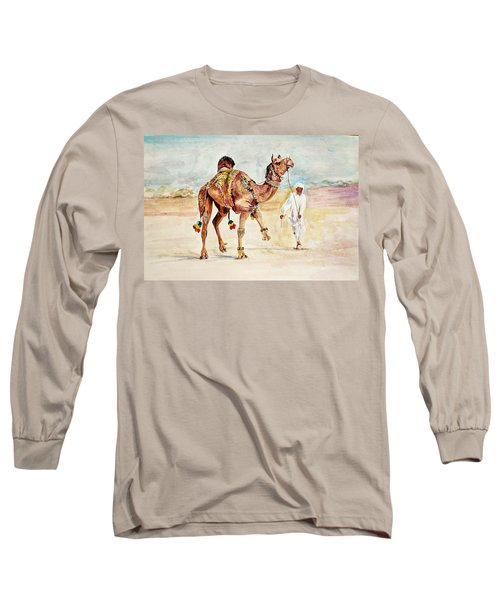 Jewellery And Trappings On Camel. Long Sleeve T-Shirt by Khalid Saeed