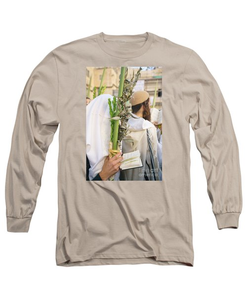 Jewish Sunrise Prayers At The Western Wall, Israel 11 Long Sleeve T-Shirt