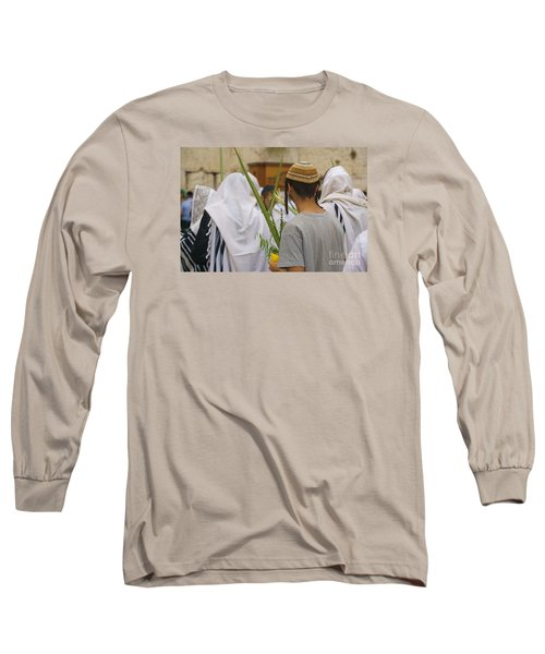 Jewish Sunrise Prayers At The Western Wall, Israel 8 Long Sleeve T-Shirt