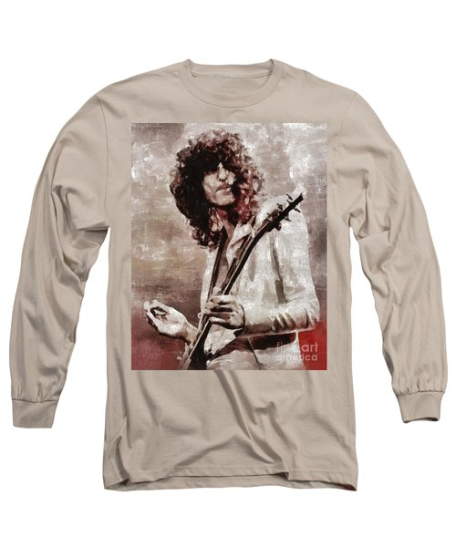 Jimmy Page By Mary Bassett Long Sleeve T-Shirt