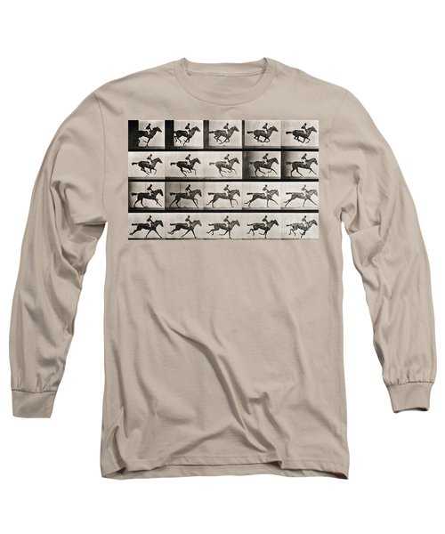 Jockey On A Galloping Horse Long Sleeve T-Shirt