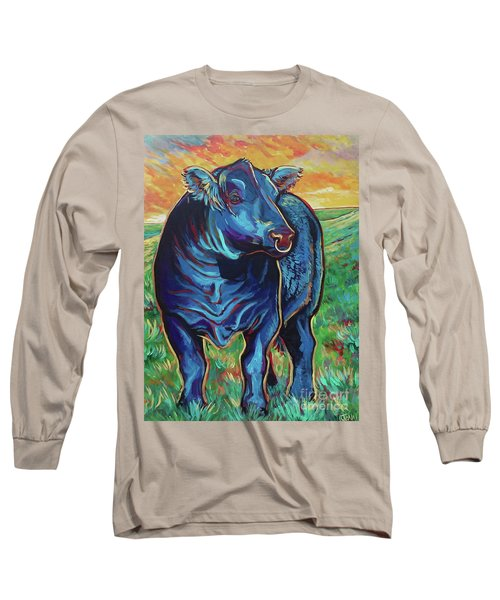 Long Sleeve T-Shirt featuring the painting Joe by Jenn Cunningham