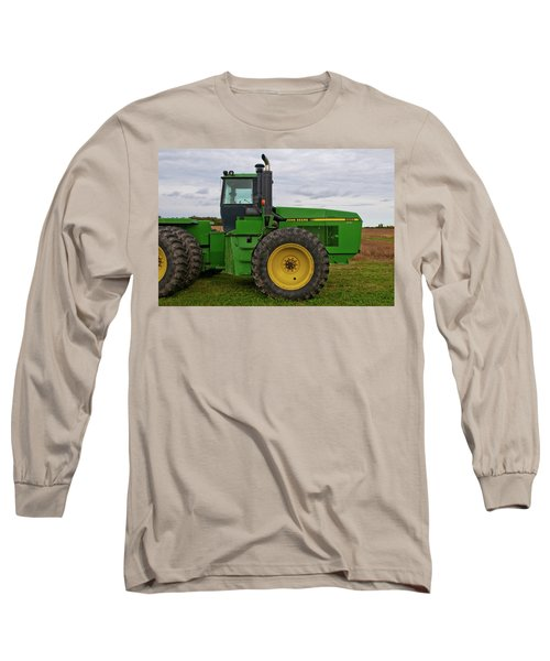 Long Sleeve T-Shirt featuring the photograph John Deere Green 3159 by Guy Whiteley