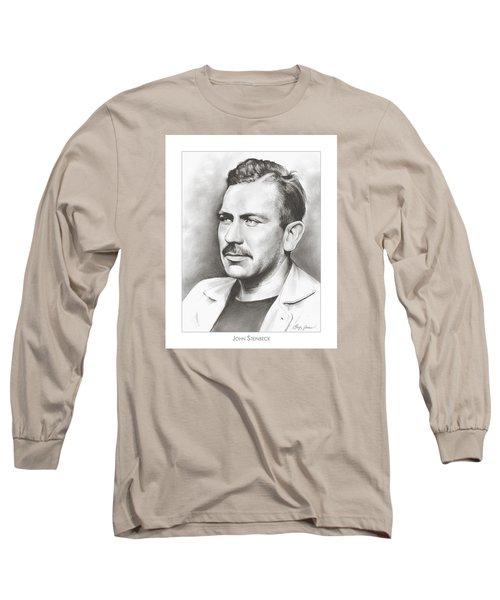 John Steinbeck Long Sleeve T-Shirt by Greg Joens