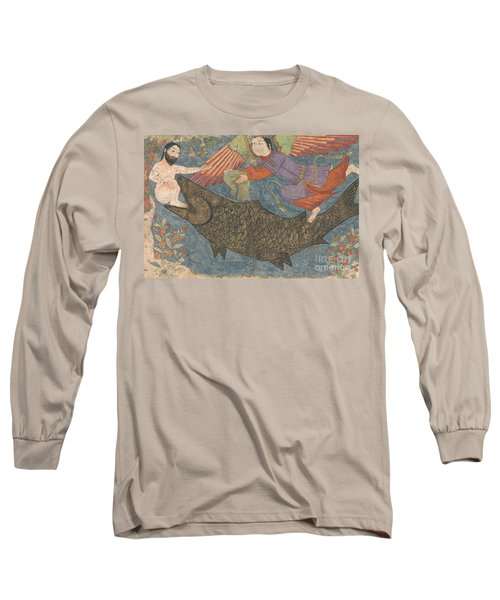 Jonah And The Whale Long Sleeve T-Shirt by Iranian School