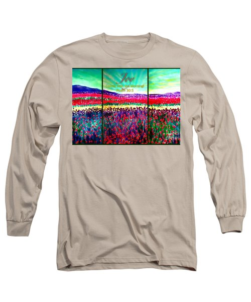 Joy Comes With The Morning Triptych  Long Sleeve T-Shirt by Kimberlee Baxter
