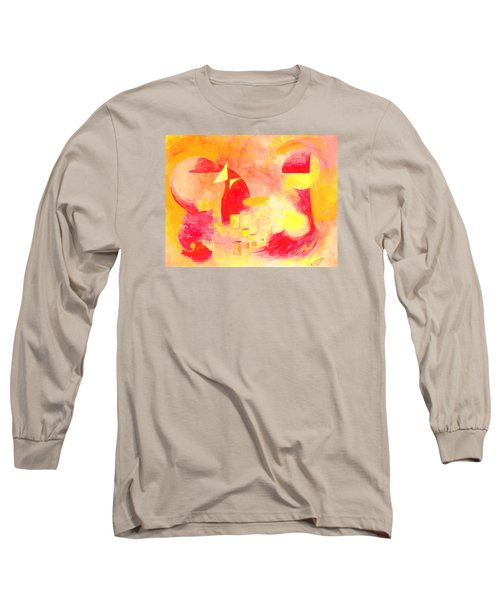Long Sleeve T-Shirt featuring the painting Joyful Abstract by Andrew Gillette