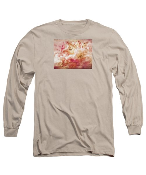 Jubilee Blush Long Sleeve T-Shirt by Jean OKeeffe Macro Abundance Art