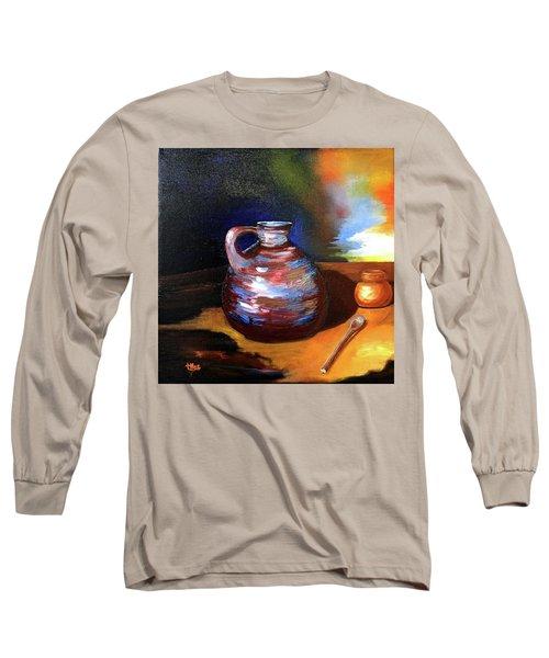 Jug Mug And Spoon Long Sleeve T-Shirt