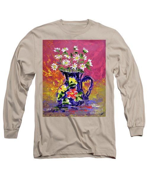 Jug Of Daisies Long Sleeve T-Shirt