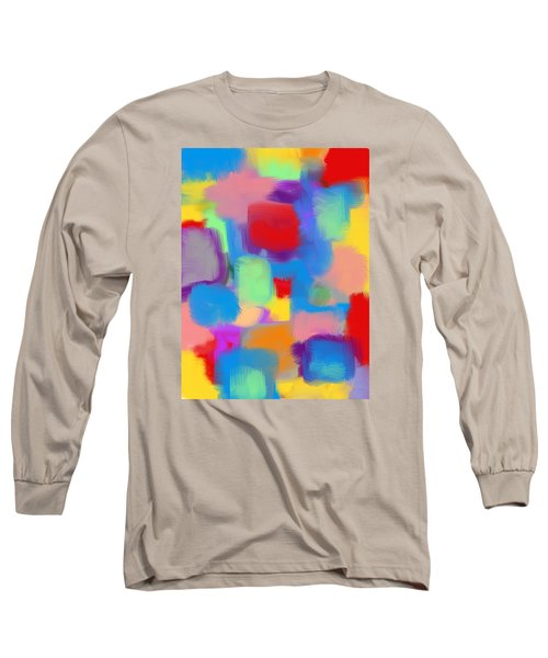 Juicy Shapes And Colors Long Sleeve T-Shirt by Susan Stone