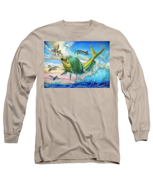 Jumping Mahi Mahi And Flyingfish Long Sleeve T-Shirt
