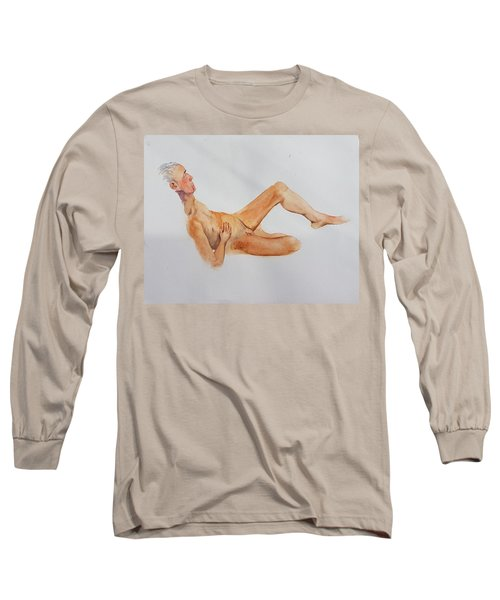 Long Sleeve T-Shirt featuring the painting June 2013 by Mira Cooke