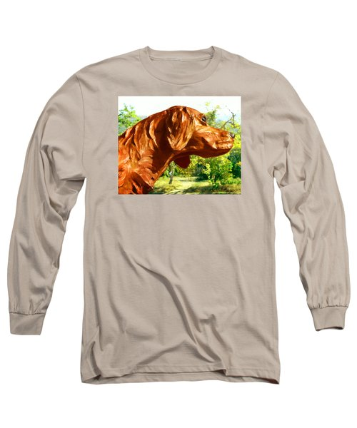Long Sleeve T-Shirt featuring the photograph Junior's Hunting Dog by Timothy Bulone