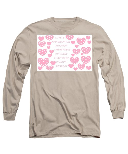 Just Hearts 3 Long Sleeve T-Shirt by Linda Velasquez