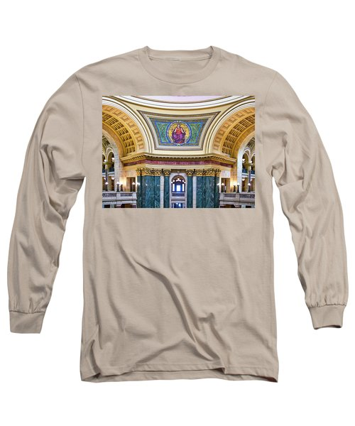Justice Mural - Capitol - Madison - Wisconsin Long Sleeve T-Shirt
