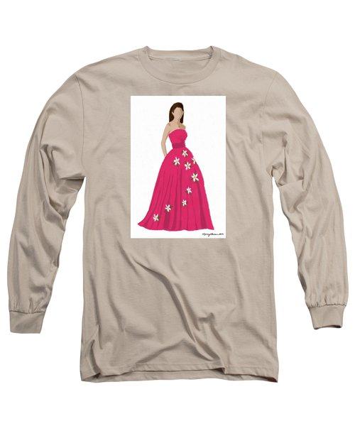 Long Sleeve T-Shirt featuring the digital art Justine by Nancy Levan