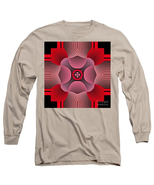 Long Sleeve T-Shirt featuring the digital art Kal - 37bc77 by Variance Collections
