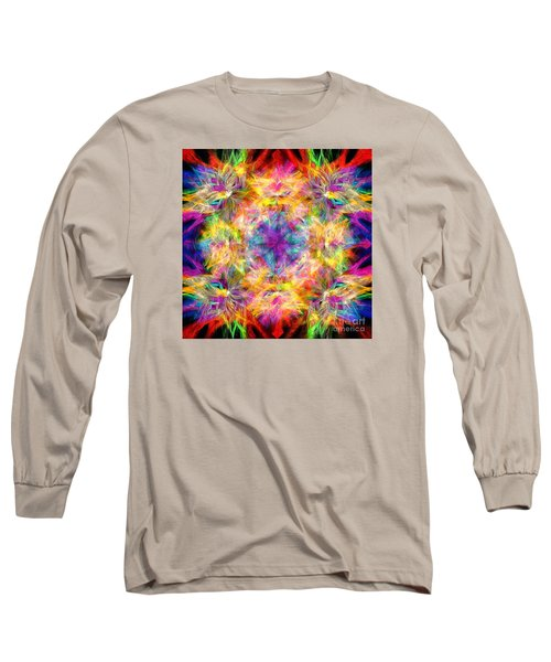 Long Sleeve T-Shirt featuring the photograph Kaleidos Quad Spiral Les Fleurs by Jack Torcello
