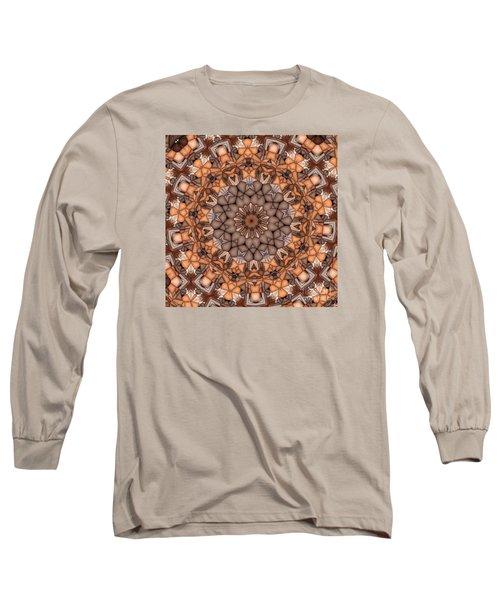 Kaleidoscope 121 Long Sleeve T-Shirt by Ron Bissett