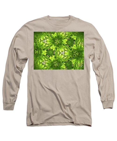 Kaleidoscope Flower Long Sleeve T-Shirt by Julia Wilcox