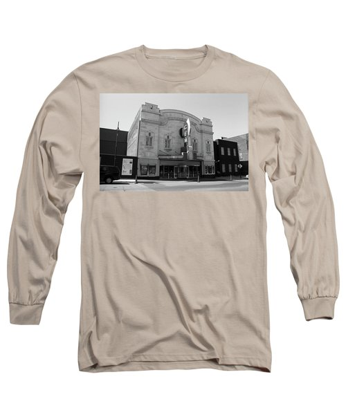 Long Sleeve T-Shirt featuring the photograph Kansas City - Gem Theater Bw by Frank Romeo