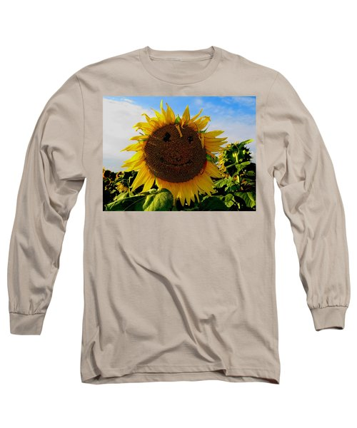 Kansas Sunflower Long Sleeve T-Shirt by Keith Stokes