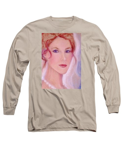Long Sleeve T-Shirt featuring the drawing Kate by Denise Fulmer