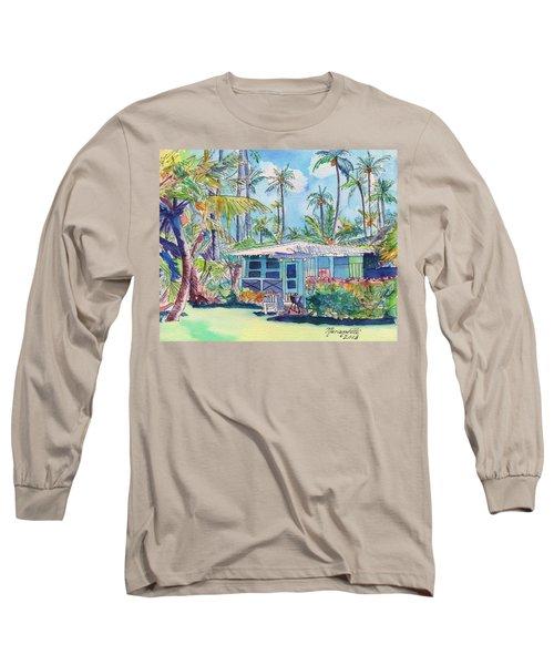 Kauai Blue Cottage 2 Long Sleeve T-Shirt by Marionette Taboniar