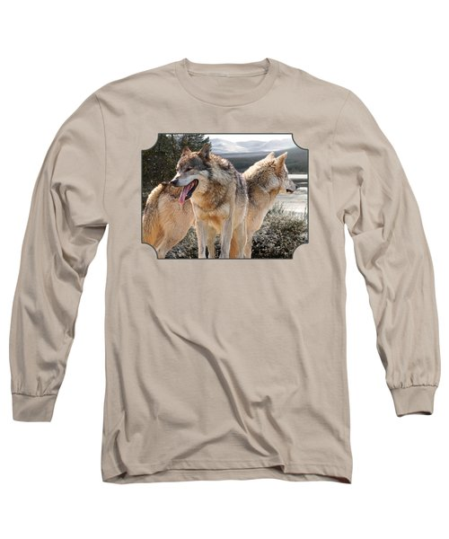 Keeping Watch - Pair Of Wolves Long Sleeve T-Shirt