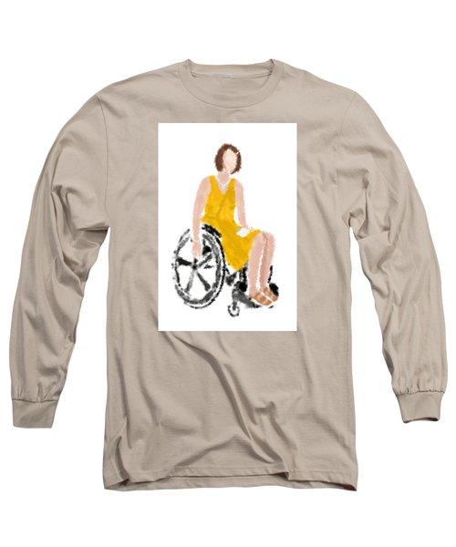 Long Sleeve T-Shirt featuring the digital art Kelly by Nancy Levan