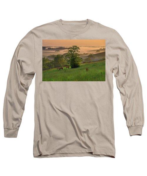 Kentucky Morning Long Sleeve T-Shirt by Ulrich Burkhalter