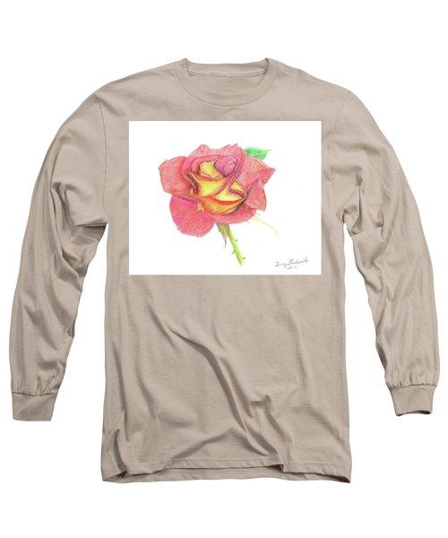 Ketchup And Mustard Rose Long Sleeve T-Shirt