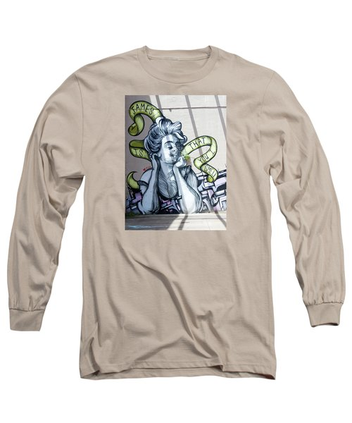 Kevin Bacon And James Corden Mural Long Sleeve T-Shirt by Jean Haynes