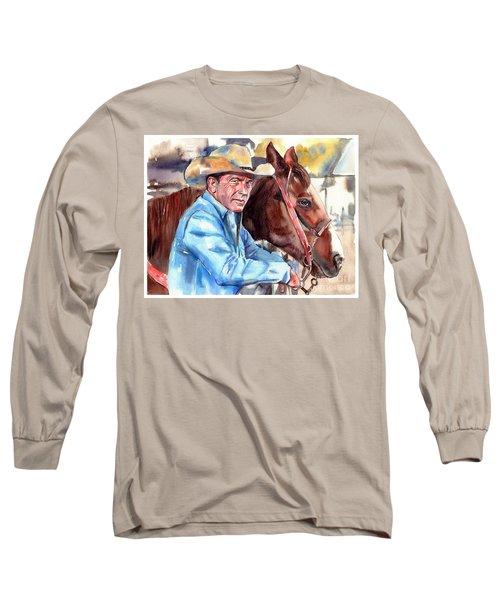 Kevin Costner Portrait Long Sleeve T-Shirt