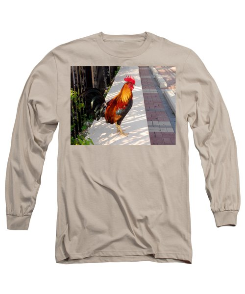 Key West Rooster Long Sleeve T-Shirt