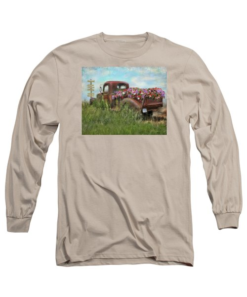 Kicks On Route 66 Long Sleeve T-Shirt by Colleen Taylor