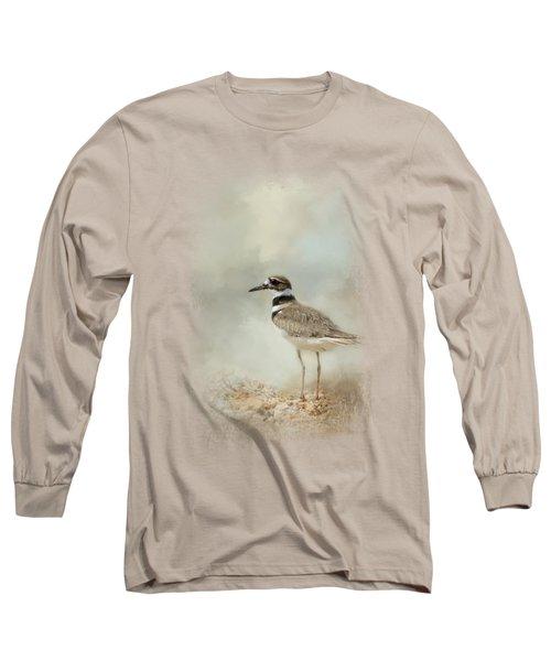 Killdeer On The Rocks Long Sleeve T-Shirt by Jai Johnson