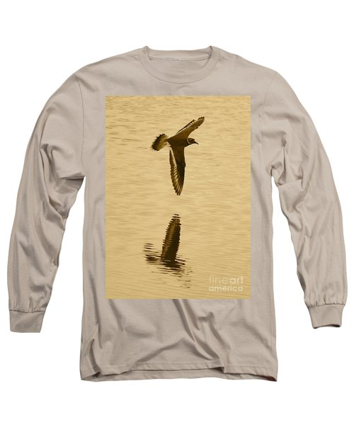 Killdeer Over The Pond Long Sleeve T-Shirt by Carol Groenen