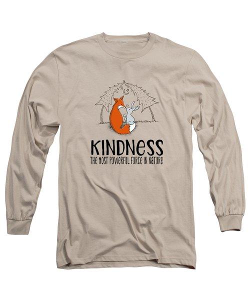 Kindness Fox And Bunny Long Sleeve T-Shirt