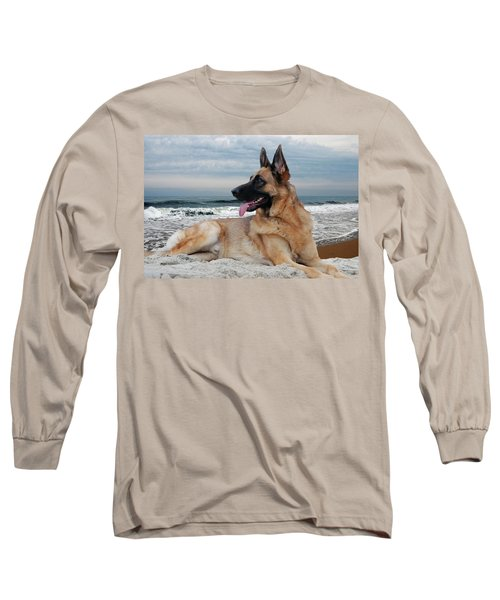 King Of The Beach - German Shepherd Dog Long Sleeve T-Shirt